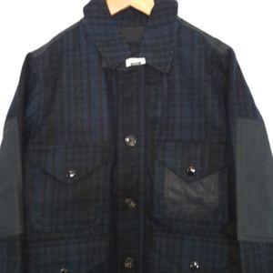 NEW Gap Boys SIZE 6/7 Blue Black Wool Plaid Jacket